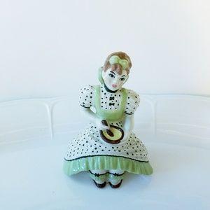 Ceramic Arts Studio Girl Figurine Bow Excellent